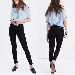 """Madewell Black 10"""" High Rise Skinny Skinny Jeans"""
